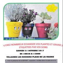 Troc Plantes et Vide Jardin le samedi 21 octobre à partir de 10h30