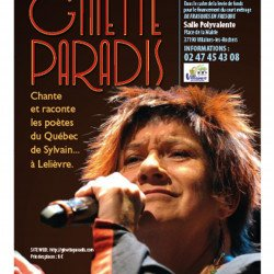 Concert de la chanteuse québecoise Ginette PARADIS le jeudi 24 mai