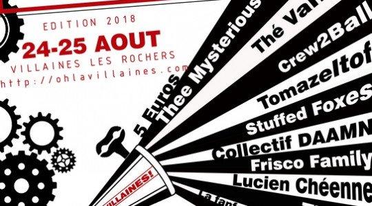 Festival Oh! La Villaines  les 24 et 25 août à Villaines-les-Rochers