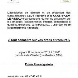 Prévention sur les arnaques : rencontre le jeudi 12 septembre à 15h à Azay