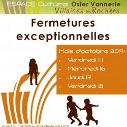 Espace Culturel Osier Vannerie : ouverture jusqu'au 03/11/19