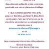 Actions engagées dans le cadre de la pandémie – 31 mars 2020