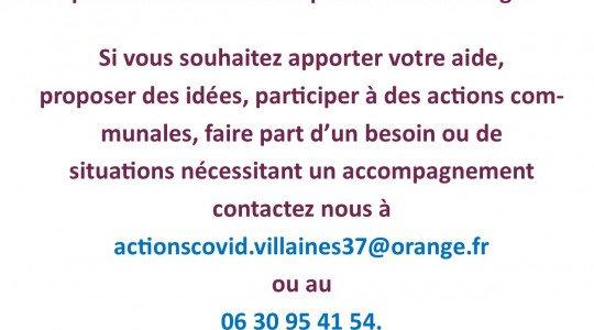 Mesures liées à la pandémie à Villaines-les-Rochers – 03 avril 2020